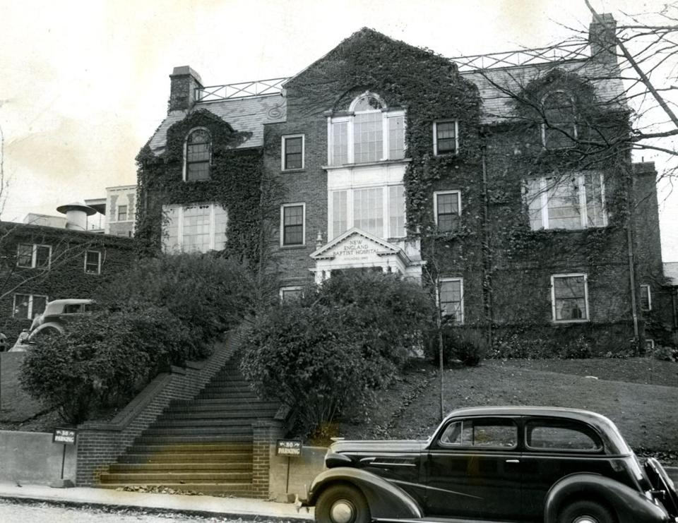New England Baptist Hospital as it appeared in 1936. In its Mission Hill neighborhood, already some residents have expressed concern about how Baptist's departure will affect the area.